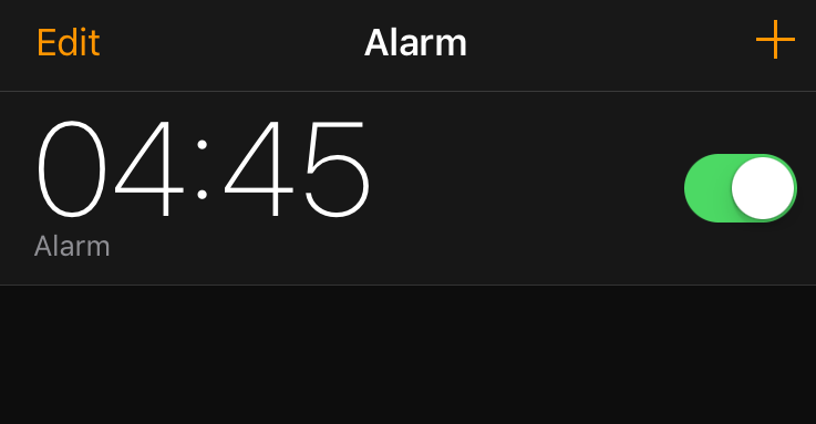Early wake up alarm